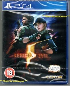 Resident Evil 5 HD (includes ALL DLC)  'New & Sealed' *PS4(Four)*