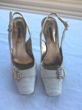 CESARE PACIOTTI Elegant Python Cream Heel Shoes