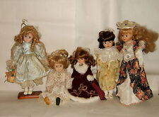 Bundle Of 5 Doll Collection Head Porcelain Clothing And Headdress Original 2