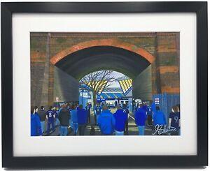 Millwall FC The Den Stadium High Quality Framed Art Print. Approx A4.