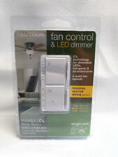 NEW!! LUTRON FAN CONTROL & LED DIMMER MACL-LFQH-WH