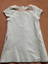 NEXT Light Green Lace Trim Shift Dress Age 4-5 Years 110cm