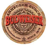 Budweiser Anheuser Busch Metal TIN Sign Beer Bud Retro Vintage Look New