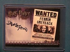 Harry Potter-Dave Legeno-Fenrir Greyback-HBP-Authentic-Signature-Autograph Card