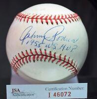 JOHNNY PODRES SIGNED JSA AUTHENTICATED NATIONAL LEAGUE BASEBALL AUTOGRAPH