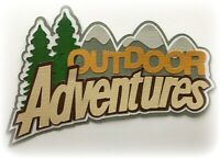 OUTDOOR ADVENTURES TITLE PREMADE PAPER PIECING 3D DIE CUT MY TEAR BEARS KIRA