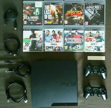 SONY PlayStation 3 SLIM (PS3) 160 GB + 17 Ps3 Games + 19 Ps1 Games + 2 DualShock