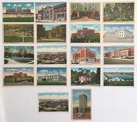 Pennsylvania Landmarks Linen Uncirculated Postcards York Lancaster Vtg Lot of 18