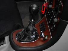 Cuffia leva cambio Alfa Romeo 166 vera pelle nera+ricamo