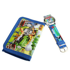 Kids Boys Classic Thomas Friends Cartoon Quartz Wrist Watch+Cute Purse Gift