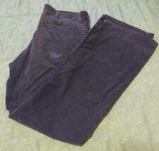"""Men""""S 32x32 True Vtg 70s Wrangler Navy Blue Cords Jeans"""