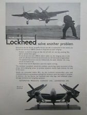 5/1946 PUB AUTOMOTIVE PRODUCTS LOCKHEED HYDRAULICS DE HAVILLAND SEA HORNET AD