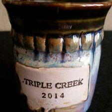 TRIPLE CREEK POTTERY COFFEE/TEA/HOT CHOCOLATE MUG/CUP 2014 DAD PEN/PENCIL HOLDER