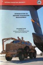 Introduction to Defense Acquisition Management, December 2008