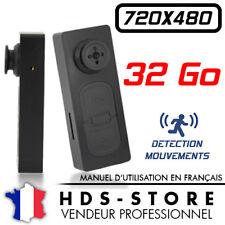 BOUTON CAMERA ESPION BTN2D 480P + MICRO SD 32 GO DÉTECTION VIDÉO PHOTO 720X480