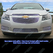 Custom Fits 2011-2013 Chevy Cruze LT/LTZ RS Package Billet Grill Combo