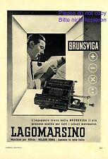 Processing machine Brunsviga Italian 1941 ad calculator advertising Italy Milano