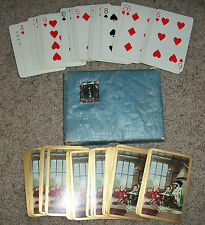GOODALLS BOUDOIR PLAYING CARDS Gold Gilt PATIENCE & THE CAMPAIGN In Box Vintage