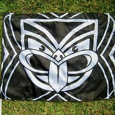 NRL NEW ZEALAND WARRIORS FLAG 80cm x 60cm  on stick - NEW!