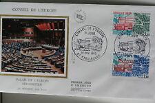 ENVELOPPE PREMIER JOUR SOIE 1983 CONSEIL DE L'EUROPE