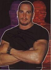 WWE WWF test AUTOGRAFATO firmato a mano 8x10 PHOTO FOTO WRESTLING