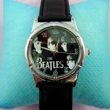 Wholesale The Beatles Fashion Black Wrist Quartz Watch Wristwatch + Badge