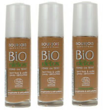 Bourjois Bio Detox Organic Foundation 59 Light Brown Liquid Makeup (3 PACK)