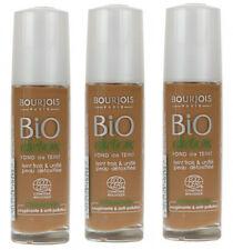 3 x Bourjois Bio Detox Organic Foundation 30ml  59 Light Brown