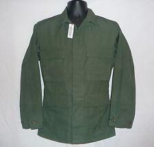 US Army Drab Green Camo BDU 4 pocket Shirt/Jacket  size Exrta Small