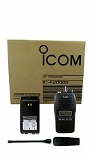 NEW Icom F2000S 23 4W 128CH UHF 450-512MHZ IP67 Submersible dust-tight Radio EMS