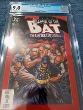 Batman: Shadow of the Bat #1 (1992) Key 1st Victor Zsasz CGC 9.0 JZ589