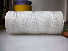 100 mètres de fil nylon BLANC tressé de 1mm Bracelet shamballa Collier ou AUTRE