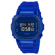 Casio G-Shock Digital Color Skeleton Blue Jelly Clear Watch DW5600SB-2 New