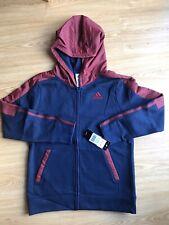 Adidas Women's Hoodie Sweatshirt Size M, Navy/burgundy Full Zip