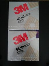 """3M High Density DS HD 1.2mb 5 1/4"""" Floppy Disks IBM Compatible 2 Boxes of 10"""