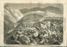 Algérie Expédition de Kabylie Bivouac de Beïra M'ta Allel ILLUSTRATION 1856