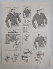 H Bar C Ranchwear Vintage Pubblicità Western Country americano