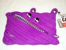 Nwt Zipit Grillz 3 Ring Pencil Pouch Case Purple
