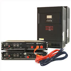 EFFEKTA AX-M1 Next 48V 5kW/10kW/15kW mit PYLONTECH US2000 1ph 2,4 kWh - 9,6 kWh