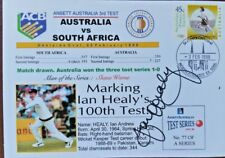 CRICKET  IAN HEALY SIGNED 100th TEST COVER VS SOUTH AFRICA
