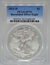 2011-W PCGS SP70 Burnished Silver Eagle - MS70 $1 West Point American Eagle