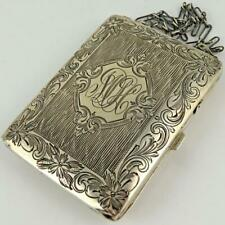 ANTIQUE W. H. SAART CO. STERLING SILVER LADIES COMPACT CARD CASE COIN PURSE