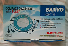 Sanyo CDP-T100 CD Player Original Box Vintage Retro - Tested and Working
