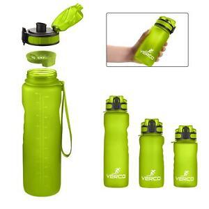 VERCO Premium Trinkflasche Sport Flasche Wasserflasche Sieb BPA Frei Wasser GRÜN