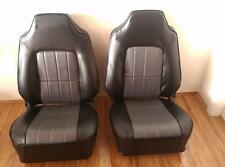 Holden Hq Hj Hx Hz Wb Bucket Seats Re trimmed in black and grey dura trim (pair)