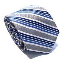 "Mens Express Neck Tie Slim Skinny 100% Silk Light Blue White Gray Narrow 2.75"""
