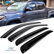 Fits 16-19 Toyota Tacoma Double Cab Slim Style Acrylic Window Visors 4Pc Set