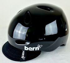 Bern- Berkeley-Summer Gloss Black-Women's Bike Helmet With Visor -Size M- NWB
