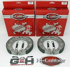2 Sets WATER GROOVED Front Brake Shoes +Springs 94-00 Yamaha YFB 250 Timberwolf