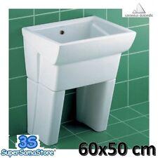 3S LAVATOIO 60x50 cm CON PIEDINI IN CERAMICA MESSICO 2 CERAMICA DOLOMITE J085700